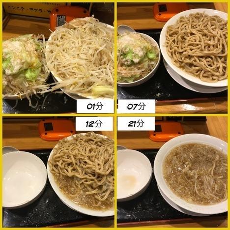 坂戸二郎系ラーメン麺たなか大盛りラーメンヤサイマシ経過