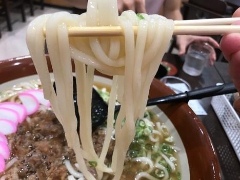 北九州やぶやイオンモール肉うどんチャレンジメニュー麺リフト