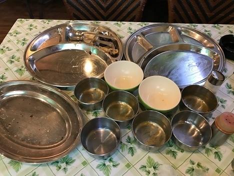 インドカレー錦糸町バスモティ食べ放題ランチ完食皿
