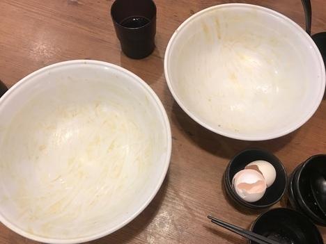 すた丼大盛りチャレンジ北千住完食皿