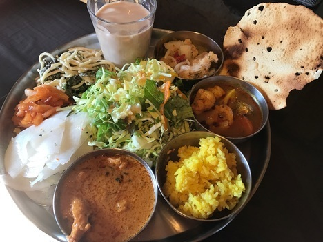 佐野インドカレー食べ放題印度家ランチ大食い2巡目