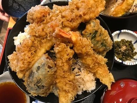 那珂市デカ盛り特盛り天丼味の里おたふく大食い