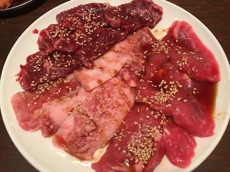 太田あぶり屋1人焼肉食べ放題肉盛り合わせ