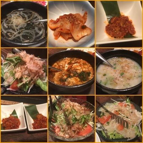 太田あぶり屋1人焼肉食べ放題各種肉以外の料理