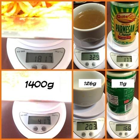 スパゲティオーガキロ盛りナポリタン計量