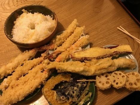 徳島鳴門魚榮デカ盛り特注天丼天ぷら取り皿