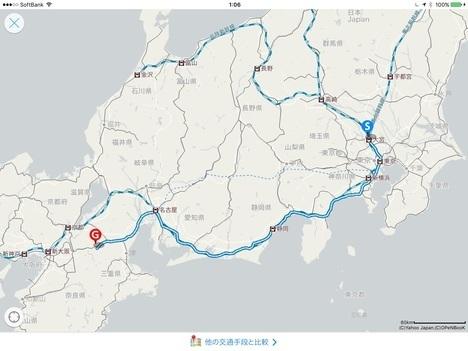 東京〜三重18切符食べ歩き旅路線図