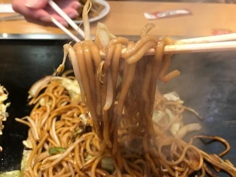18切符大食い旅鶴橋風月本店大盛り焼きそば麺リフト
