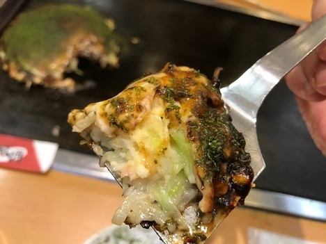 18切符大食い旅鶴橋風月本店豚玉ヘラリフト