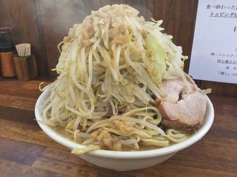 男気らーめんアカギ新二郎系ラーメンメニューリニューアル特注