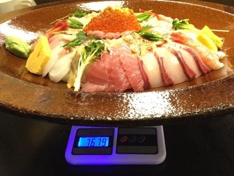 新潟聖籠ほうせい丸海鮮チャレンジ丼計量