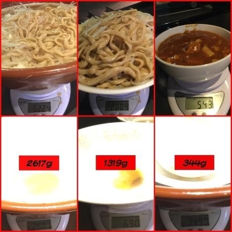 蒙麺火の豚麺マシゆで前1kgすり鉢フュージョン計量