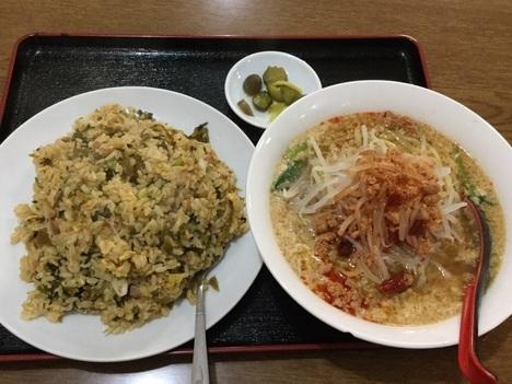 高崎市新町台湾料理隆福園高菜チャーハン担々麺のセット