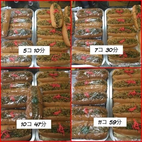 まんぷく処たぬき100円焼きそばパン大食い経過