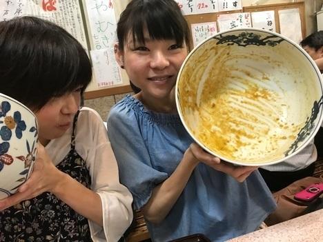 名古屋新栄吉野屋デカ盛りオフ会小野姉妹完食