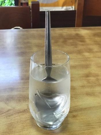 富山島田食堂名物特大オムライスのスプーン