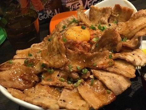 松本市でんでんデカ盛り焼肉丼