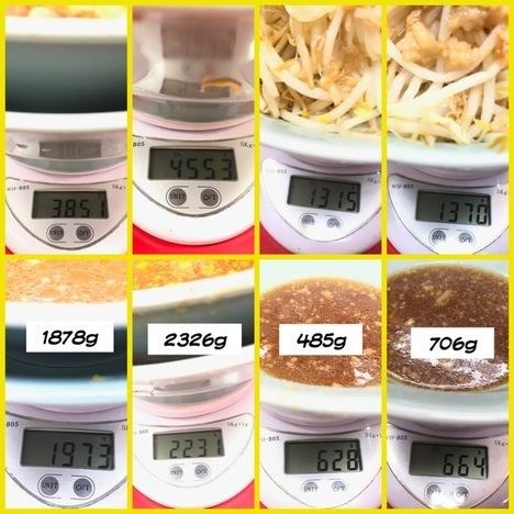 立川マシマシ足利汁なし豆腐変更と大盛りもやし計量