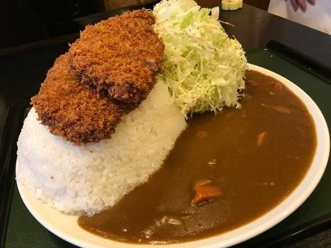 秋田チャレンジメニューかつ吉メガ盛りカツカレー成功無料