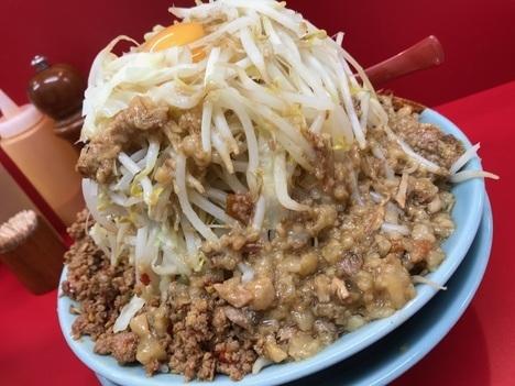立川マシマシ足利汁なし豆腐変更と大盛りもやし