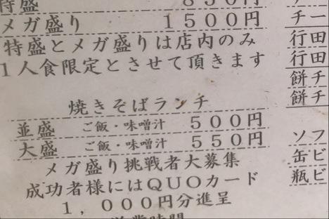 行田一平ちゃんメガ盛り焼きそばチャレンジ