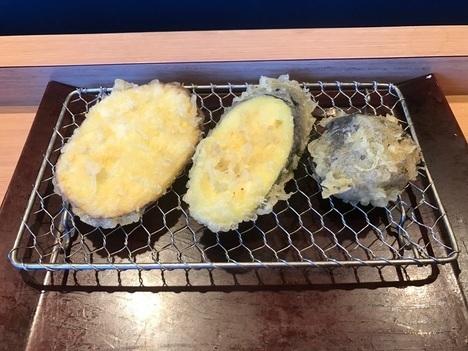 天ぷら木場やまみ明太子高菜塩辛食べ放題付き定食