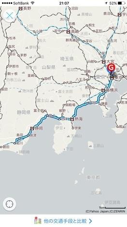 18切符日帰り静岡食べ歩きツアー路線図