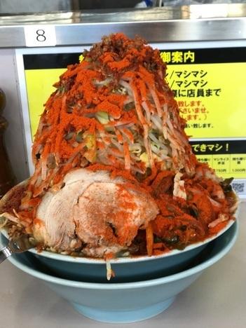 立川マシマシ足利ひーひー麺の限定餅