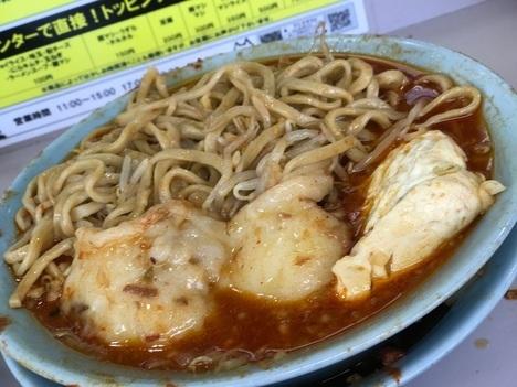 立川マシマシ足利ひーひー麺の餅と豆腐