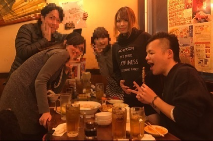 錦糸町龍馬大畑花蓮さん歓迎大食いオフ会集合写真