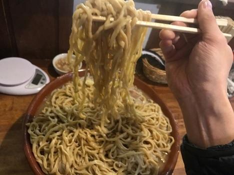 男気ラーメンアカギすり鉢麺マシ麺リフト