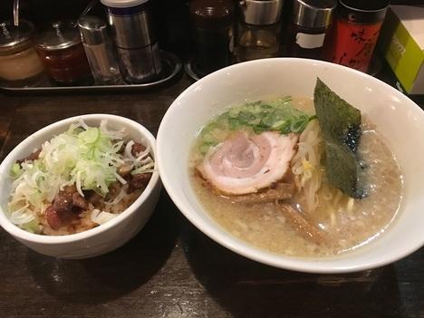 森下ラーメン漢純レバ丼セット