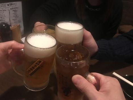 薄利多売半兵衛上野飲み会乾杯