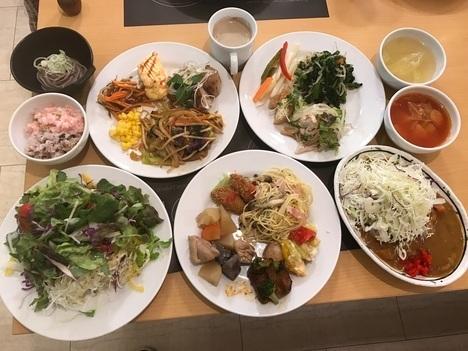 福島カウリキッチン自然食バイキング一巡目