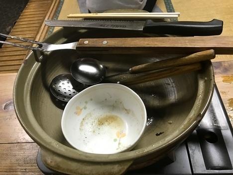小山大衆食堂たんぽぽキャベツ丸鍋完食