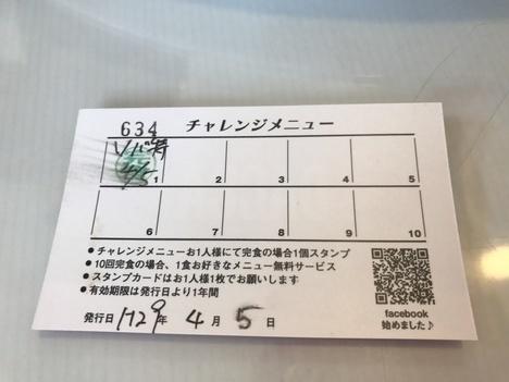 名古屋カフェテラスダッカデカ盛り完食カード