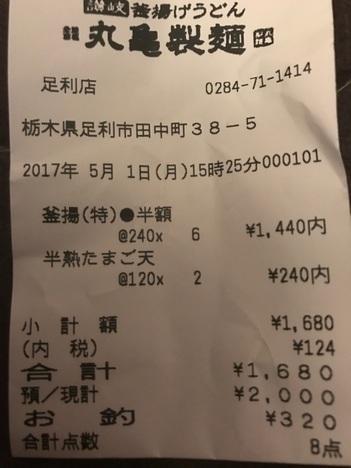 丸亀製麺一日釜揚げ半額イベント足利12玉大食い