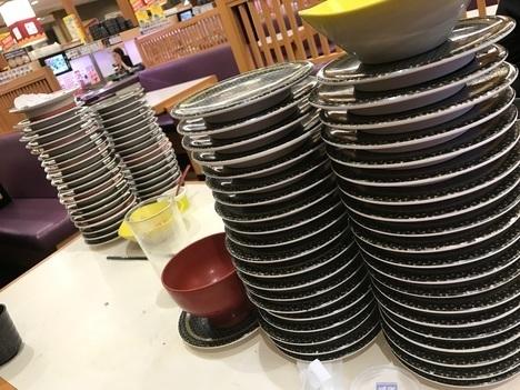 はま寿司総額割り勘オフ会残皿