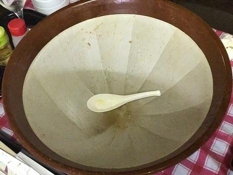 もつ煮ちょっぺDracoチャレンジメニューすり鉢