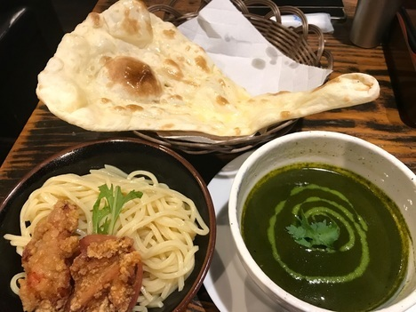 景勝軒系列インドカレー店ビリヤニパクチーつけ麺大盛りナン付き