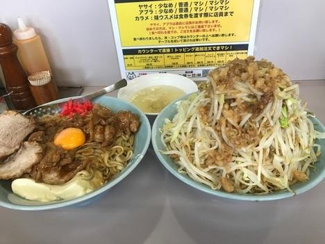 立川マシマシ足利店焼肉重ごはんを麺と豆腐に変更と大盛りもやし