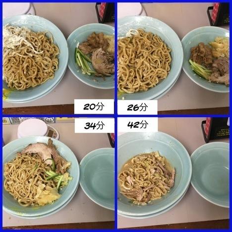 立川マシマシ足利すごい冷やし中華麺マシ4枚と豚マシマシ特注デカ盛り経過