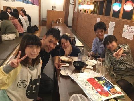 ちばちゃん上野店大食いオフ会記念撮影