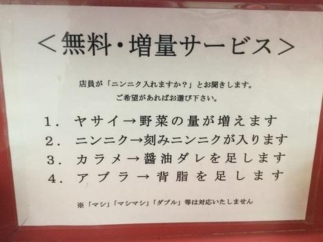 ラーメン二郎小岩店大ラーメンヤサイアブラトッピング案内