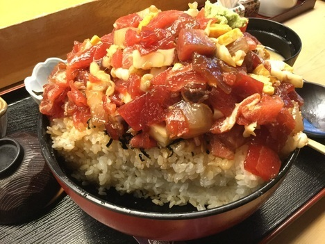 東大宮玄海寿司ばらちらし丼お得ランチメガ盛り断面