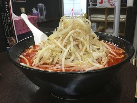 中本インスパイア蒲田荒木屋大辛肉味噌麺野菜大盛り