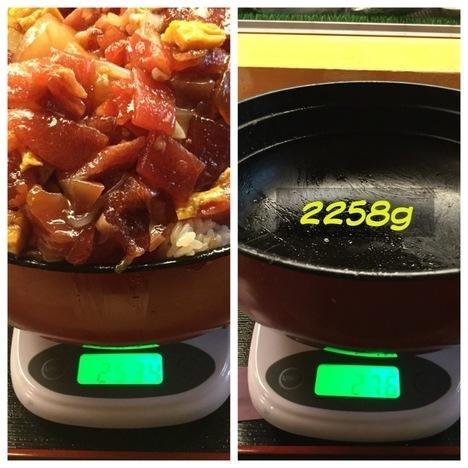 東大宮玄海寿司ばらちらし丼ランチ大盛り計量