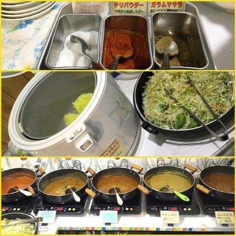 館林AYUSHインドカレー食べ放題バイキング各種料理