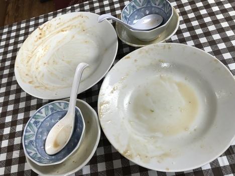 藤枝会飯よこ多デカ盛り麻婆豆腐飯ときのこ会飯完食