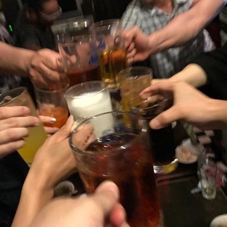 鶴ヶ島居酒屋すうちゃんフリーオフ会乾杯